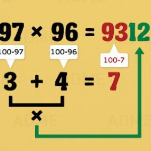 Как да умножаваме двуцифрени числа на ум
